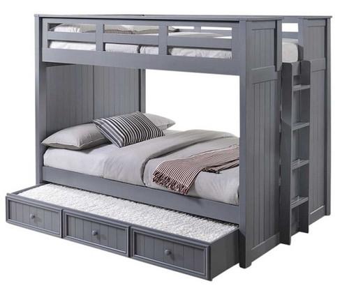 Edrea Grey Beadboard Bunk Bed