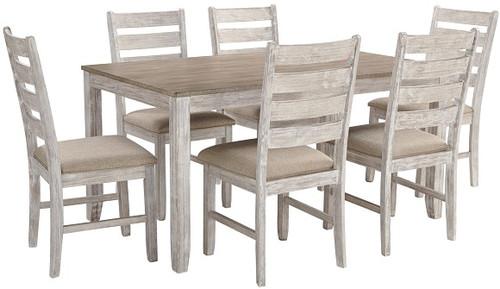Conrad Driftwood 7 Piece Rustic Dining Set