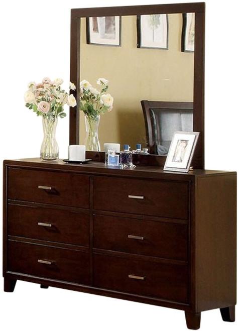 Eastern Mirror Brown Cherry shown with Optional Dresser