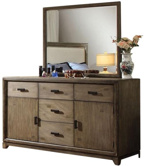 Hicks Mirror shown with Optional Dresser