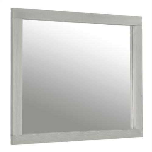 Iris Brushed White Rectangle Mirror