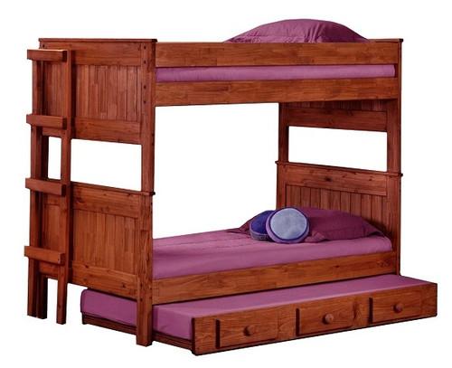 Duke Mahogany XL over XL Rustic Bunk Beds