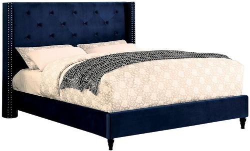 Marley Upholstered Bed Navy