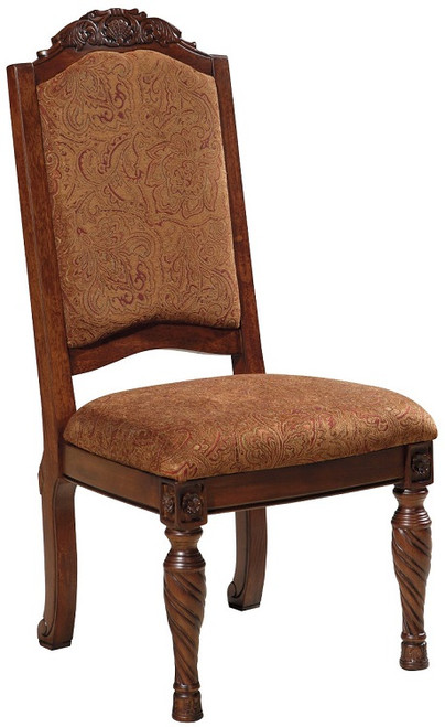 Raliegh Set of 2 Upholstered Side Chairs Cherry single chair