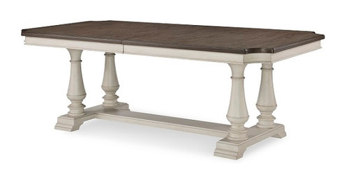 Westport Weathered White Farmhouse Dining Table