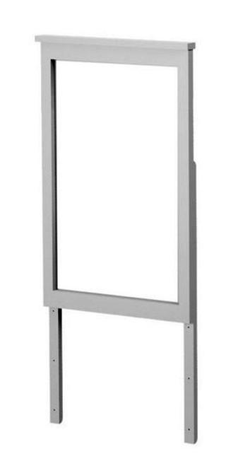Almere Gray Tall Mirror