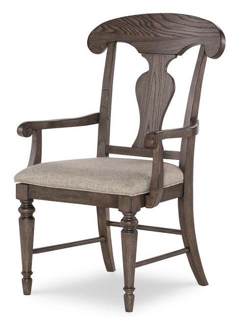 Westport Weathered Brown Farmhouse Dining Chairs with Arms