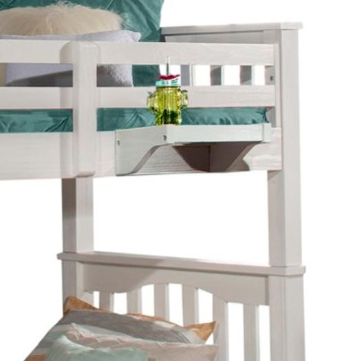 Iris Brushed White Hanging Shelf