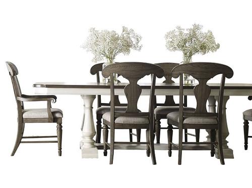 Westport 7 Piece Weathered White Farmhouse Dining Set