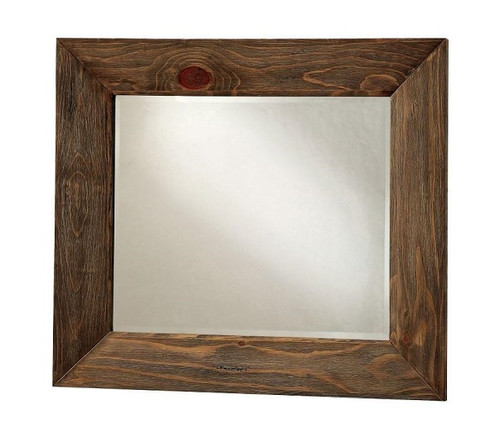 Calistoga Burnished Brown Wooden Mirror