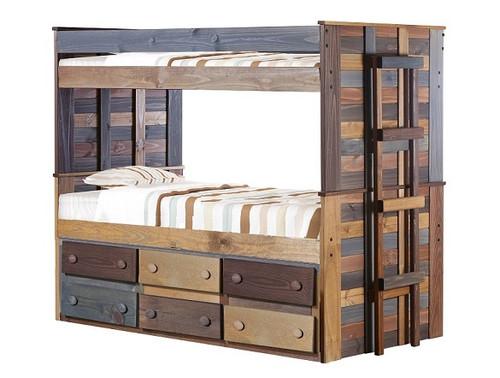 Morgan Creek Multicolor Bunk Beds with Storage
