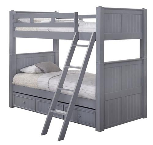Moreno Grey Twin XL Bunk Beds