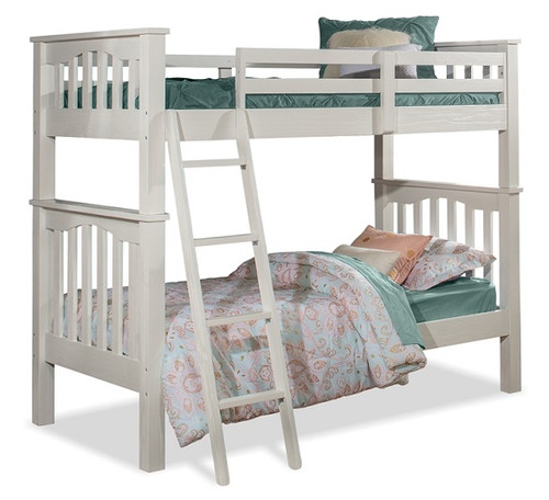 Iris Brushed White Bunk Beds twin over twin
