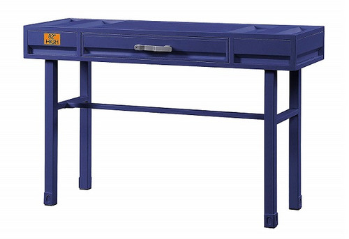 Shipping Container Blue Metal Vanity Desk