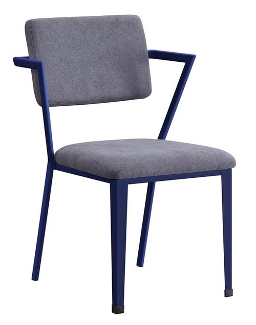 Shipping Container Blue Metal Desk Chair