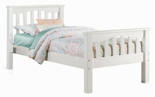 Iris Brushed White Mission Bed Twin