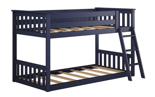 Brody Blue Low Bunk Beds for Kids