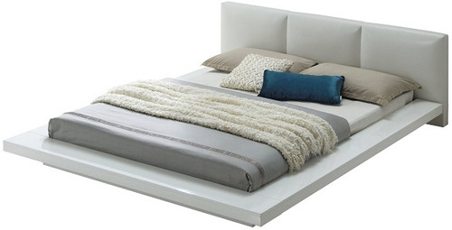 Sage Platform Bed White angle