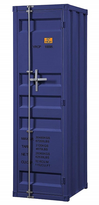 Shipping Container Blue Metal Wardrobe