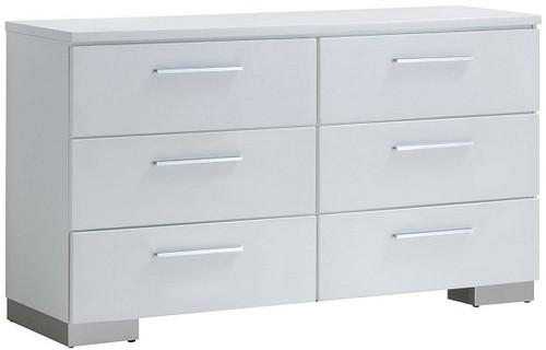 Sage Six Drawer Dresser White