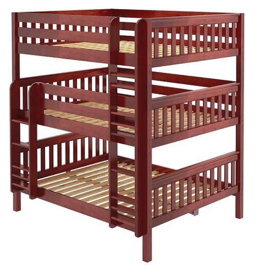 Leta Chestnut Queen Triple Bunk Bed