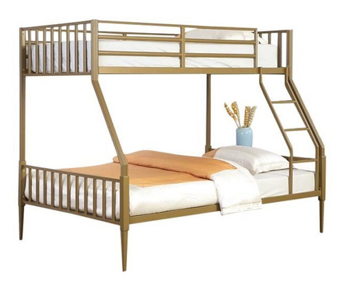 Talia Matte Gold Twin over Full Bunk Bed