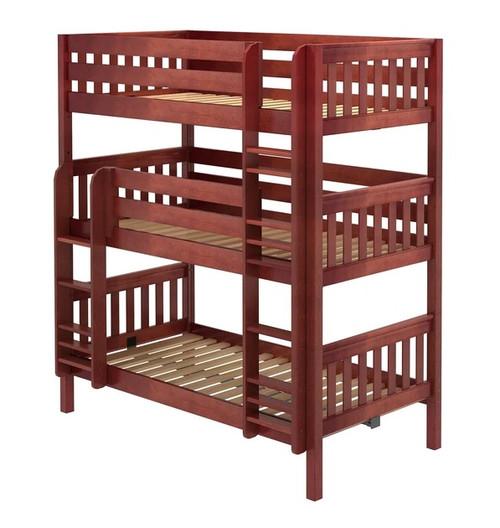Leta Chestnut Twin XL Triple Bunk Bed
