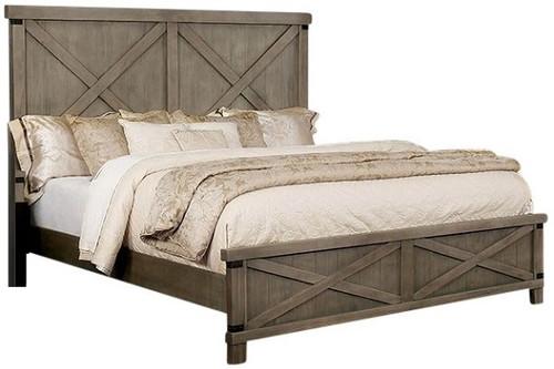 Halloway Panel Bed Grey