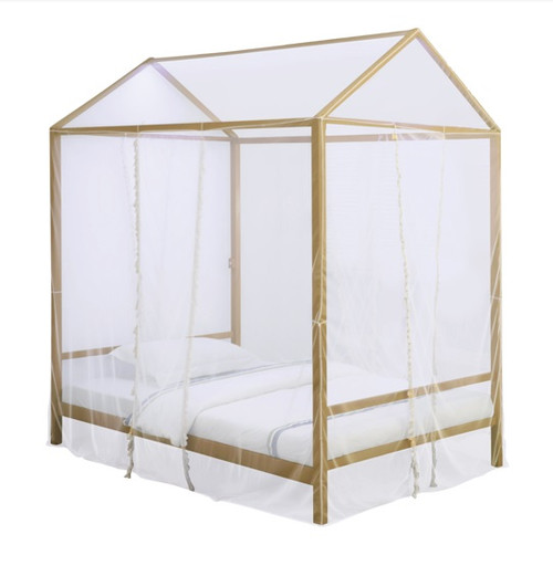 Angelina Gold Canopy Bed twin