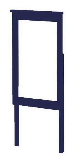 Baldwin Blue Tall Mirror