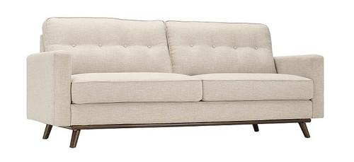 Bolton Beige Mid Century Tufted Back Sofa