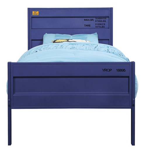 Shipping Container Blue Metal Bed Frame twin