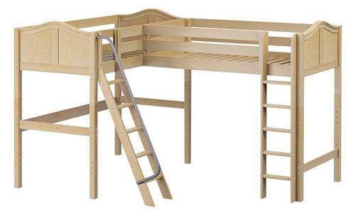 Perdue Natural Corner L Shaped Loft Bed twin twin