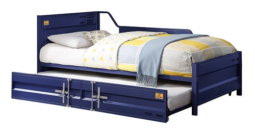 Shipping Container Twin Size Blue Metal Daybed