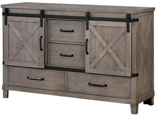 Halloway Door Drawer Dresser Grey