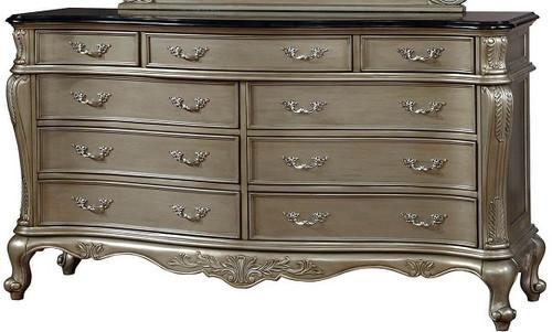 Teagan Nine Drawer Dresser Gold