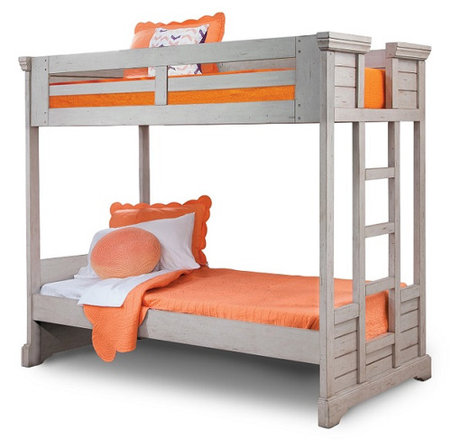 Brylee Twin over Twin Louvered Bunk Bed Antique Gray