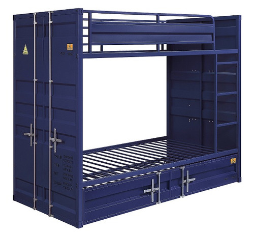Shipping Container Blue Metal Bunk Beds twin