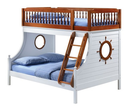 Norton Ship Wheel Twin over Full Bunk Bed