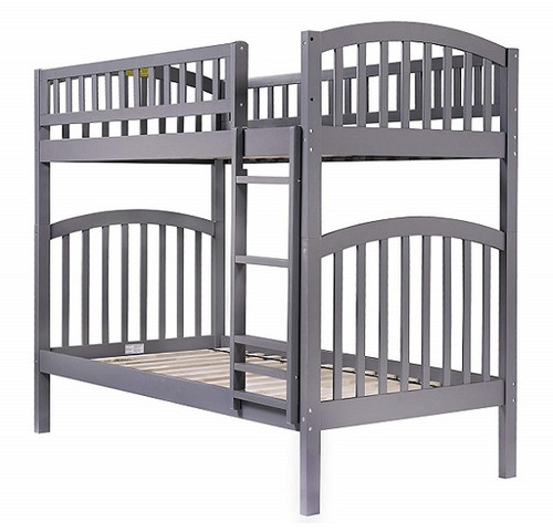Marin Grey Arch Bunk Beds for Kids twin over twin