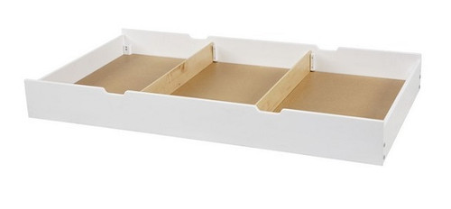 Stella White Twin Storage Trundle with Dividers