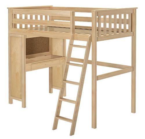 Delaney Natural Twin Loft Bed with Desk