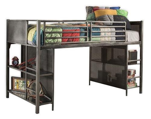 Battery Park Black Steel Twin Junior Loft Bed