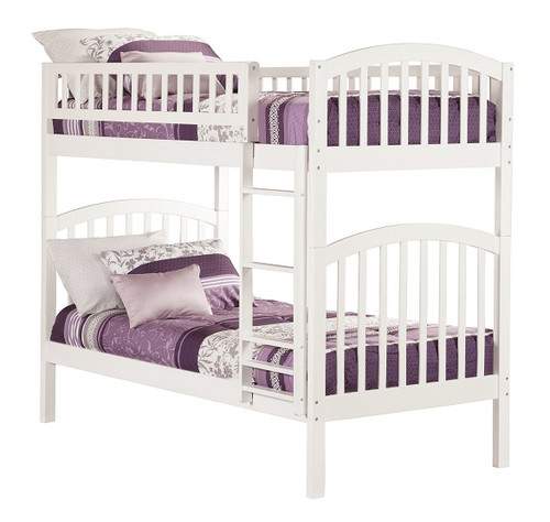 Felicity White Arch Bunk Beds for Kids twin
