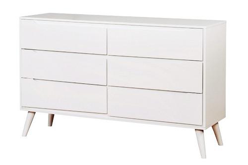 Cadelle White 6 Drawer Dresser