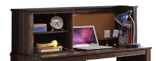 Bingham Distressed Brown Student Desk Hutch detail