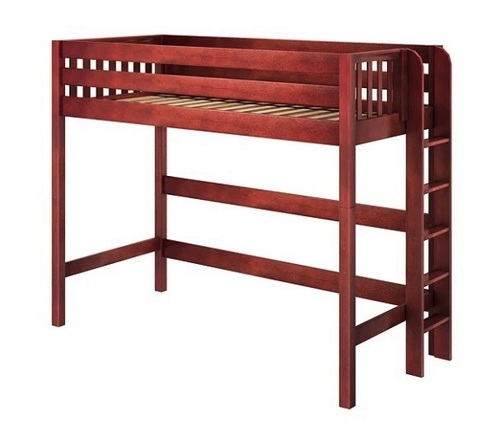 Atlas Chestnut L Shaped Loft Bed Twin XL Loft Bed