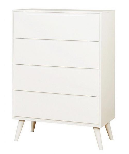 Cadelle White 4 Drawer Chest
