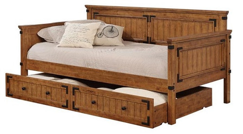 Gideon Honey Twin Daybed with Trundle with storage trundle