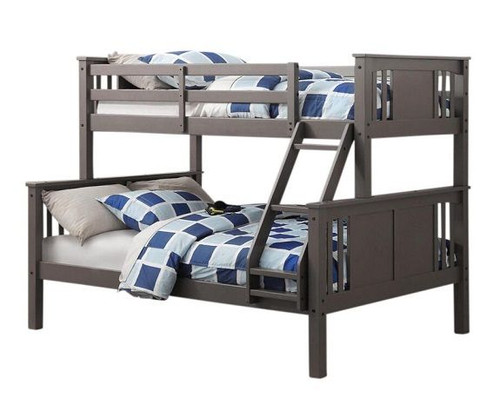Barr Grey Twin over Full Bunk Bed